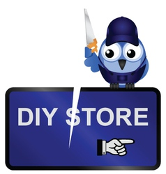 DIY Store Sign vector image