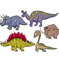 prehistoric set cartoon vector image vector image