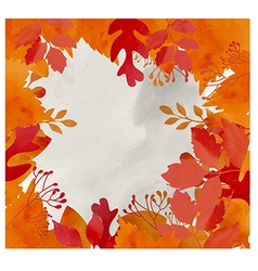 Autumn background with dried leaves vector image