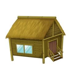 Cartoon hut vector image