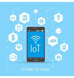 Internet of Things concept in vector image