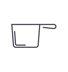 ladle line icon sign on vector image vector image