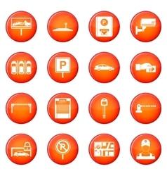Car parking icons set vector image