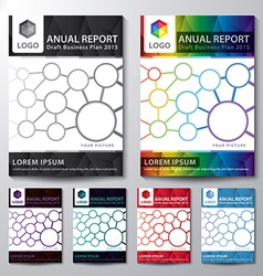 Cover Annual report set vector image vector image