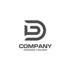 creative letter d logo vector image vector image