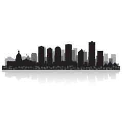 Edmonton Canada city skyline silhouette vector image vector image