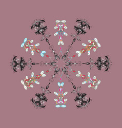 snowflake isolated on pink background winter vector image vector image