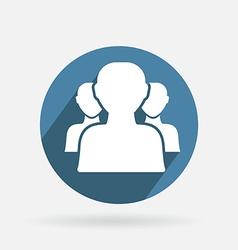 blue icon silhouette of a men social media vector image