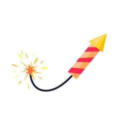 broken-winded firework rocket isolated on white vector image vector image