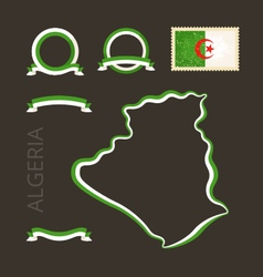 Colors of Algeria vector image vector image