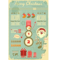 Infographic with santa claus vector