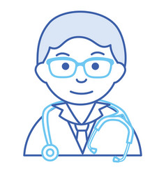 male doctor with stethoscope avatar character vector image