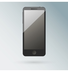 Realistic black mobile phone with blank screen vector image