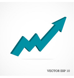 3d arrow business graph vector image
