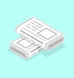 3d isometric flat concept newspapers vector