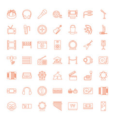 49 entertainment icons vector image
