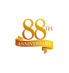 88 year ribbon anniversary vector