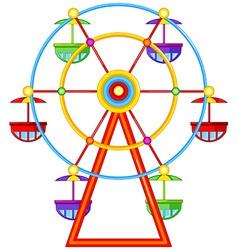A ferris wheel ride vector image