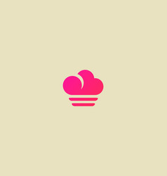 Abstract cloud food logotype creative chef vector
