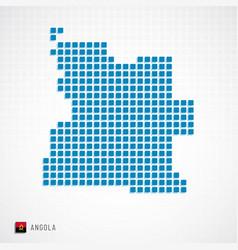 angola map and flag icon vector image