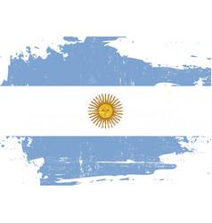 Argentin scratched flag vector