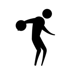 Avatar doing sport flat design vector