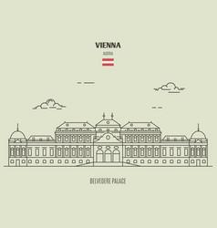 belvedere palacel in vienna austria vector image