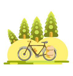 bike in nature vector image