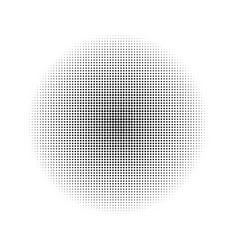 black circle consisting of small circles vector image