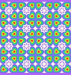 bright abstract seamless pattern with geometric vector image