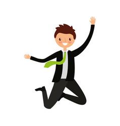 businessman jumping avatar character vector image