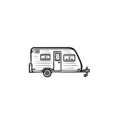 Camper hand drawn outline doodle icon vector