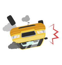 car accident icon road traffic vehicle fatality vector image
