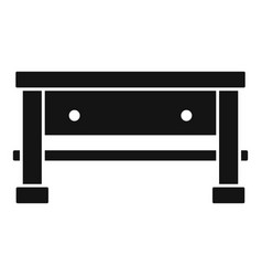 carpenter work table icon simple style vector image