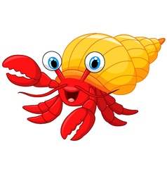 Cartoon hermit crab vector