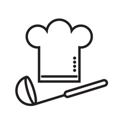chefs hat with a ladle vector image