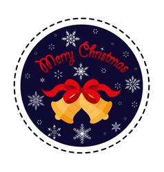 christmas bells merry vector image