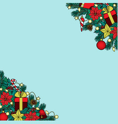 Christmas colorful angular composition vector