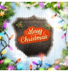 Christmas template with label EPS 10 vector image