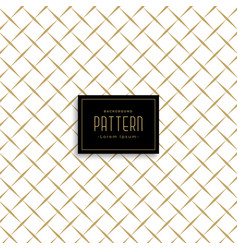 Clean cross line pattern vector