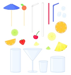 cocktail color set vector image