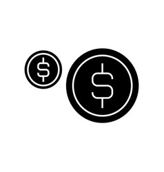 coins usd icon sign o vector image