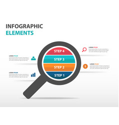Colorful magnifier business infographics elements vector