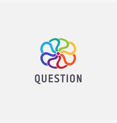 Colorful question cloud logo icon template vector