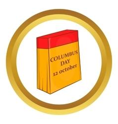 Columbus Day calendar 12 october icon vector