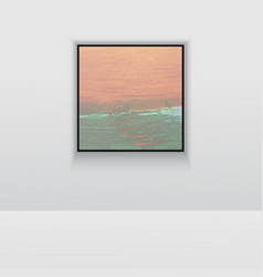Digital art picture in hot color on the wall vector
