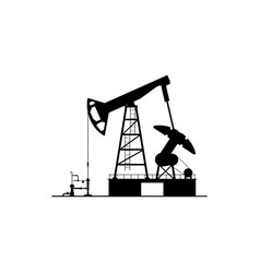 drilling pumps oil derrick platform with cranes vector image