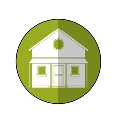 familiy house countryside green circle vector image