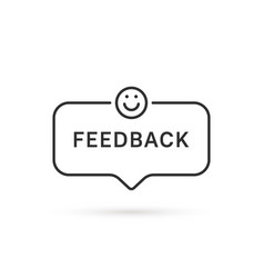 Feedback like smile with linear bubble vector