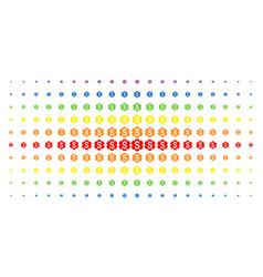 Financial settings gear spectral halftone array vector